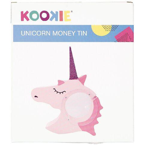 Kookie Unicorn Shaped Money Tin