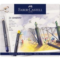 Faber-Castell Goldfaber Colour Pencils Tin 24 Pack