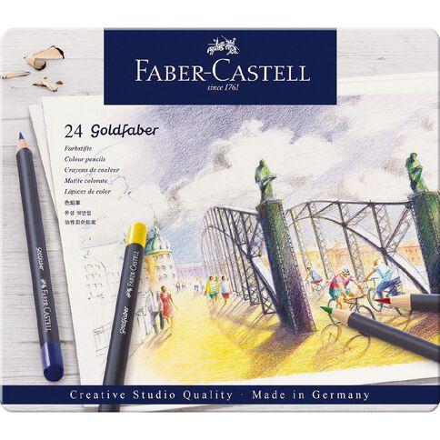 Faber-Castell Goldfaber Colour Pencils Tin 24 Pack