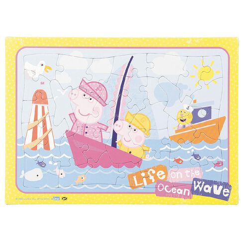 Peppa Pig Frame Tray 35 Piece Assorted