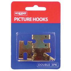 Holdfast Picture Hooks Double Gold