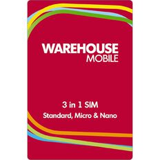 Warehouse Mobile $16 Combo SIM
