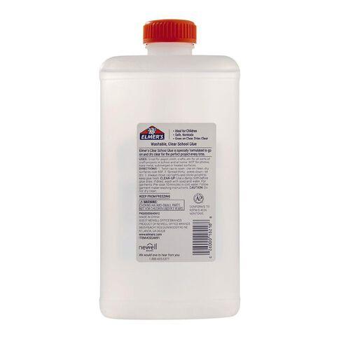Elmer's Clear Liquid School Glue 946ml Quart Clear