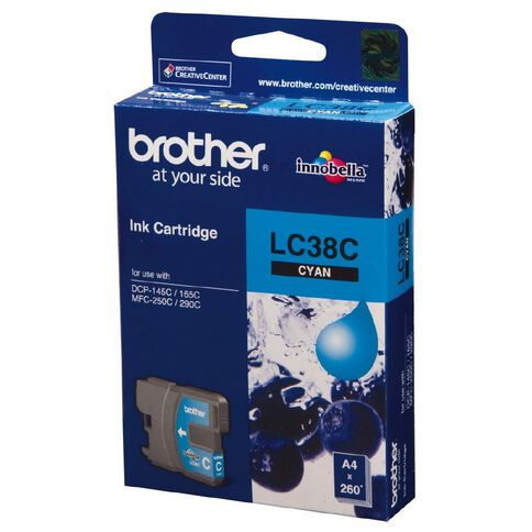 Brother Ink LC38 Cyan (260 Pages)