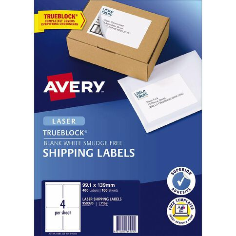 Avery Laser Labels L7169-4 Pack 100