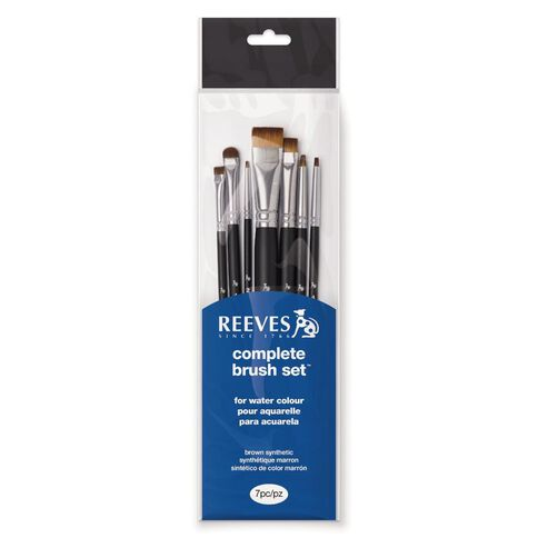 Reeves Water Colour Brush Short Handle 7 Pack