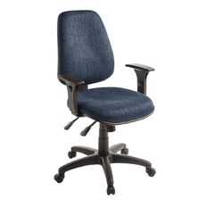 Eden Chorus 3 Lever Highback Ergonomic Chair with Arms Navy