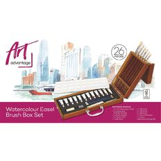 Art Advantage Artists Brush Easel Set Watercolour 26 Piece
