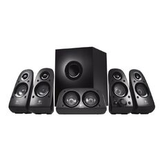 Logitech Speakers Z506 5.1 Surround System With Subwoofer Black