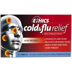 Ethics Cold & Flu Tablets 20s - LIMIT OF 1 PER CUSTOMER
