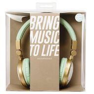 Headphones Pastel Geo Marble Teal