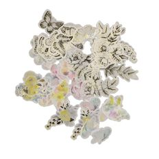 Uniti English Rose Vellum die cut shapes