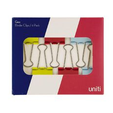 Uniti Geo Binder Clips Multi-Coloured
