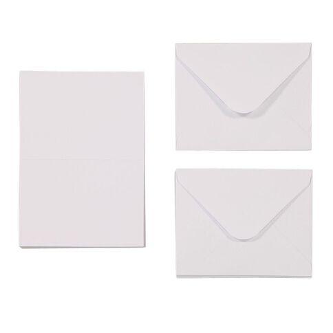 Uniti Mini Cards & Envelopes White 50 Pack