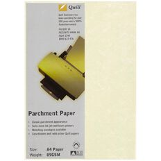 Quill Parchment Paper 89Gsm 100 Pack Natural A4