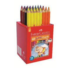 Faber-Castell Caddie Jumbo 60 Coloured Pencils