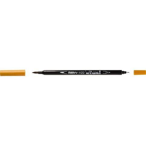MARVY Le Plume II Dual Tip Marker Ochre