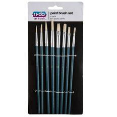 U-Do Oil Paint Brush Set 8 Pieces