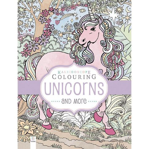 Kaleidoscope Pastel Colouring: Unicorns & More