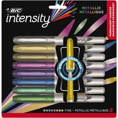 Bic Intensity Permanent Marker Metallic Assorted 8 Pack
