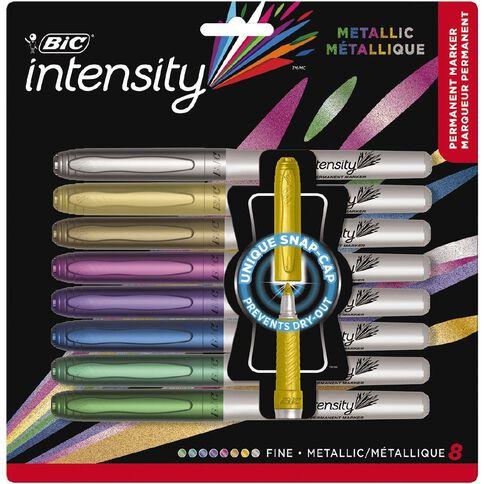 Bic Intensity Permanent Marker Metallic Assorted 8 Pack