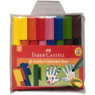 Faber-Castell Jumbo Connector Pens 8 Pack