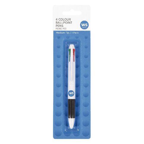 WS Pen 4 Colour Grip Multi-Coloured