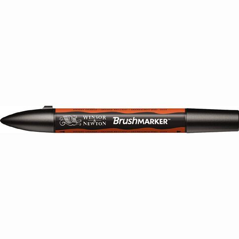 Winsor & Newton Brushmarker Single Bright Orange Orange