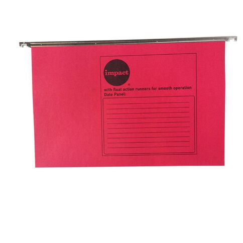 Impact Suspension File 10 Pack Red