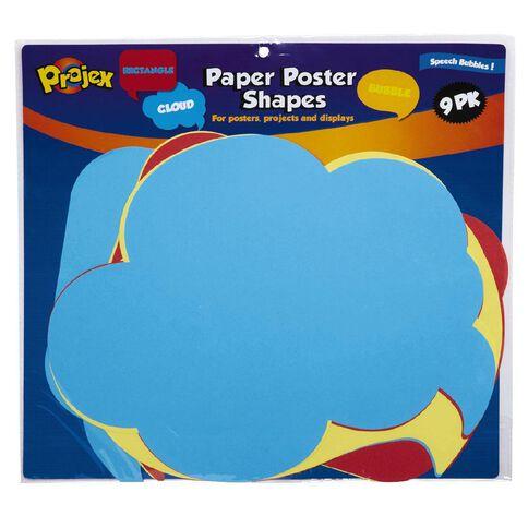Projex Paper Shapes Board Shapes Speech Bubbles 9 Pack