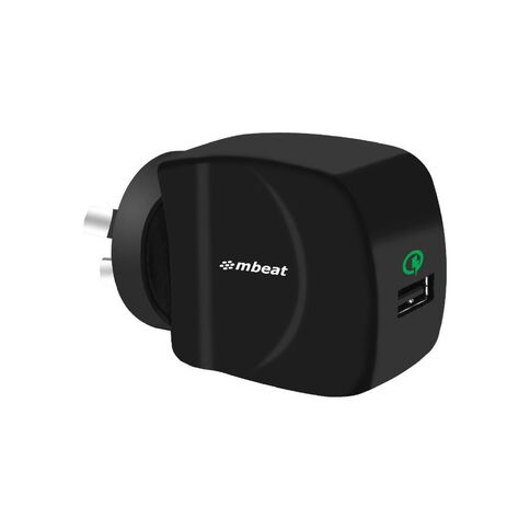mbeat Gorilla Power Qc USB Quick Charge2.0 Charger Black