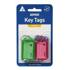 Kevron Key Tag Standard 4 Pack Assorted