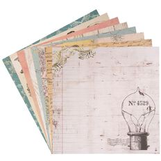 Uniti Vintage Paper Pad 12 Sheets 12in x 12in
