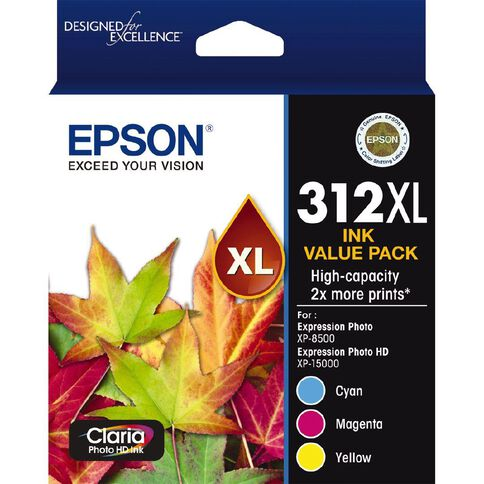 Epson Ink 312XL 3 colour Ink Pack (CMY)