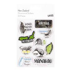 Uniti New Zealand Stickers Dimensional