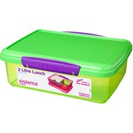 Sistema Klip It Tinted Lunch Box 2L Assorted