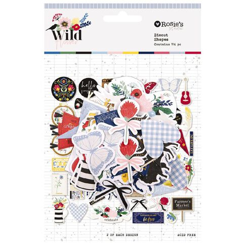 Rosie's Studio Wildflower Cardstock Diecuts 114 Pack