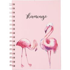 Uniti Tropical Flamingo Spiral Notebook A5