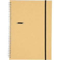 GBP Stationery Notebook Card Elastic Black/Tan 80 Leaf A4