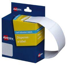 Avery White Rectangle Dispenser Stickers 49x24mm 325 Labels Handwritable
