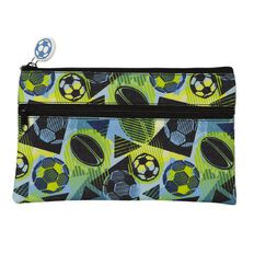 WS Pencil Case Flat 2 Zip Sports