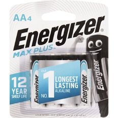 Energizer Max Plus Battery AA 4 Pack