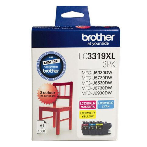 Brother Ink LC3319XL Colour 3 Pack