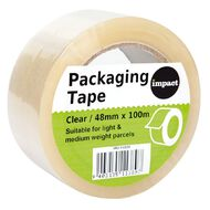 Impact Packaging Tape PP 48mm x 100m Clear