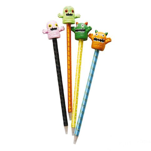 Pen Novelty Monsters & Mummys Assorted Blue