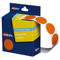 Avery Orange Dispenser Dot Stickers 24mm diameter 500 Labels