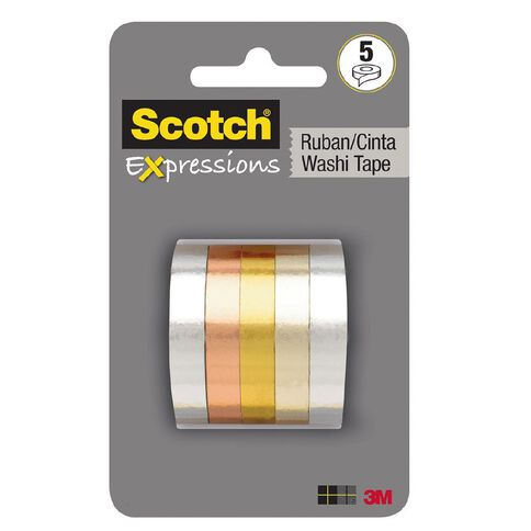 Scotch Expressions Foil Tape 5 Pack
