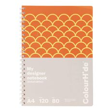 ColourHide Designer Notebook 120 Pages Scales Orange A4