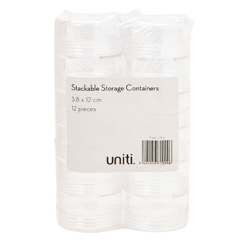 Uniti Stackable Storage Containers 12 Pieces