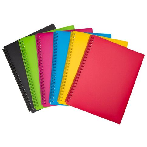 WS Clear Book Refillable 20 Leaf Black A4